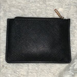Accessories - Mini Card Holder Wallet Faux Black Leather